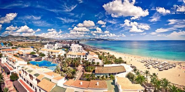 Playa d'en Bossa, Ibiza, Spain